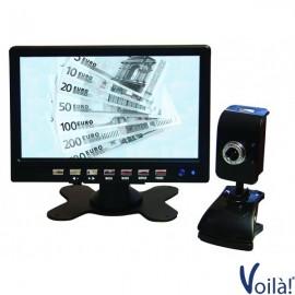 Verifica Banconote con Monitor e Telecamera ad infrarossi