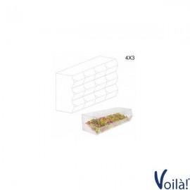 Porta Caramelle Trasparente a 12 Scomparti - 65 x 25 x 45 (H) cm