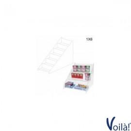 Porta Caramelle Trasparente a 6 ripiani - 26 x 52 x 49 (H) cm