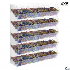 Porta Caramelle Trasparente a 20 Scomparti - 65 x 25 x 86 (H) cm