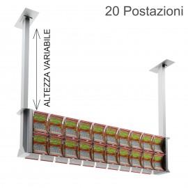 Espositore da soffitto con sportellino frontale per 20 Gratta e Vinci